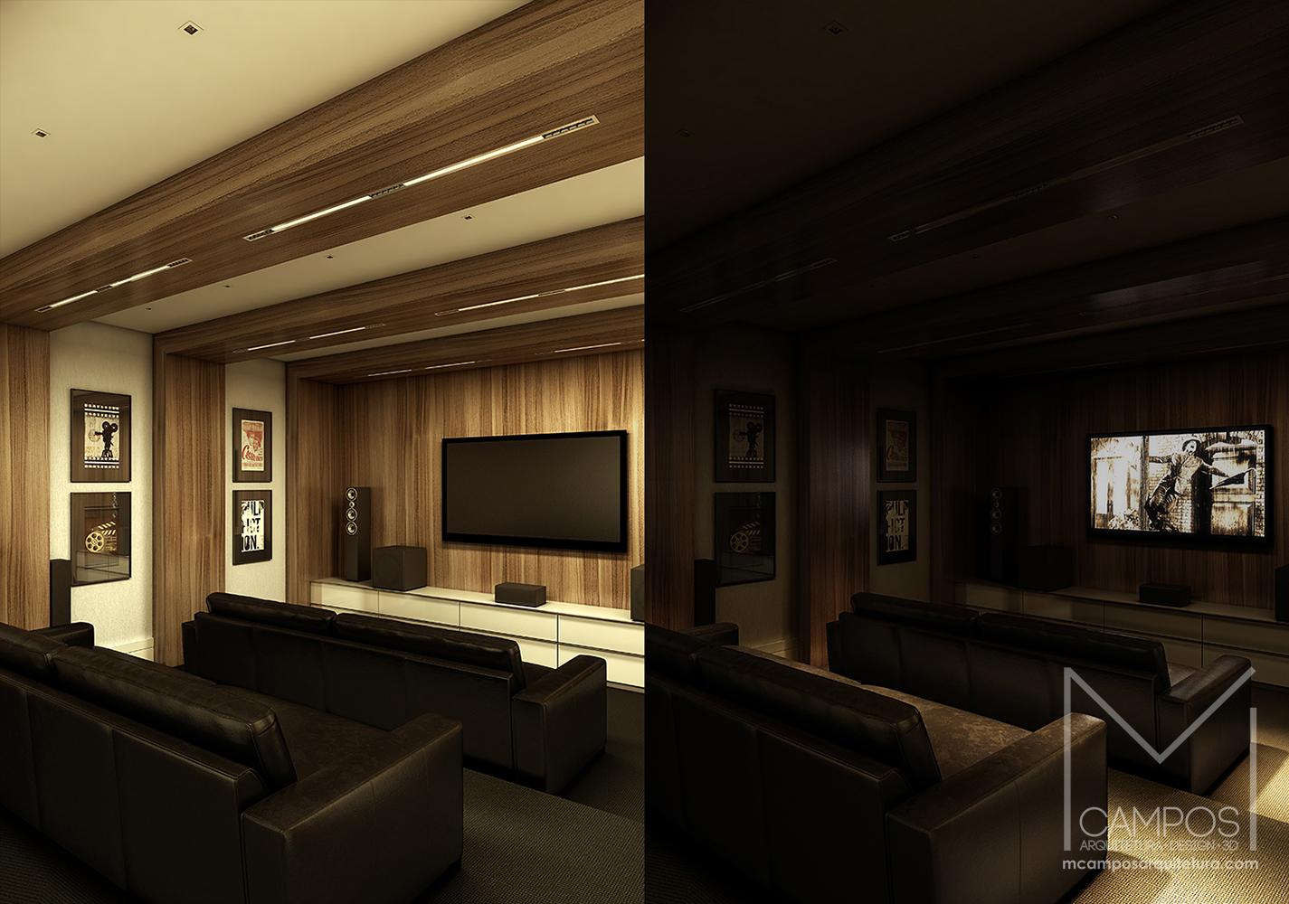Design De Interiores Home Theater Aceso E Apagado U2013 Projeto E Maquete  Eletronica 3D U2013 Belo Horizonte BH U2013 Miriã Campos MCampos Arquitetura